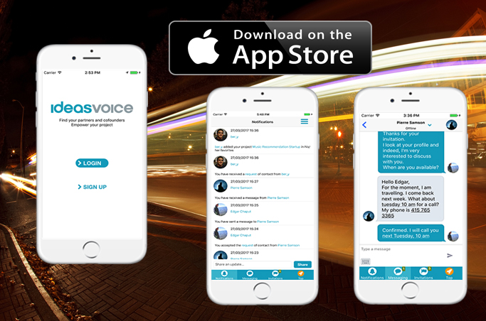 NEW! IdeasVoice Mobile IOS App