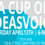 Book your ticket for April 13th, 2018 and attend A CUP OF IDEASVOICE